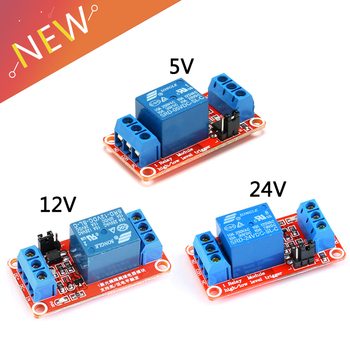 1 Channel 5V 12V 24v Relay Module Board Shield for Arduino with Optocoupler Support High and Low Level Trigger