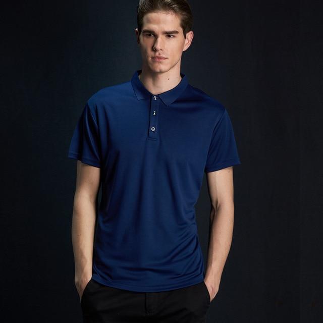 f4414a1c6a Ruoru Marca Camisa Polo Dos Homens Homens Roupas Plus Size S-4XL Business    Casual