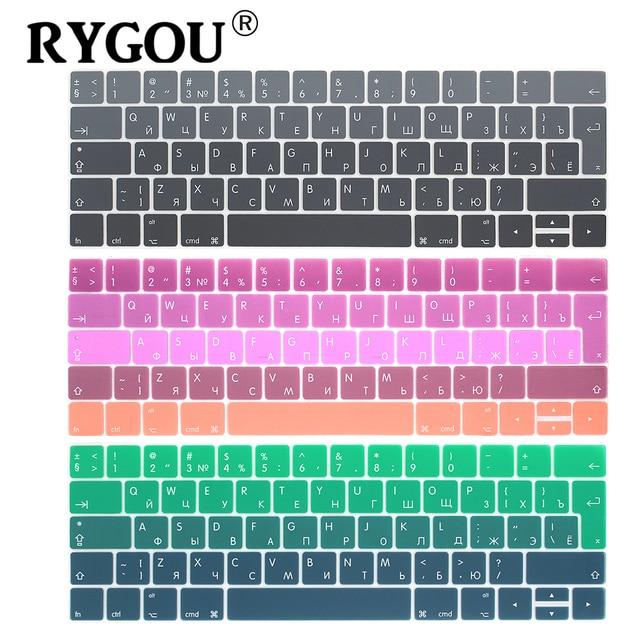 Rygou Euro Russische Keyboard Stickers Voor Macbook Pro 13 Touch Bar Siliconen Toetsenbord Cover Voor Macbook Pro 15 2016 Huid protector