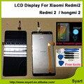 1 unids precio barato de la alta calidad negro redmi2 lcd 4.7 pulgadas lcd display + touch screen asamblea del digitizador para xiaomi redmi 2 hongmi 2