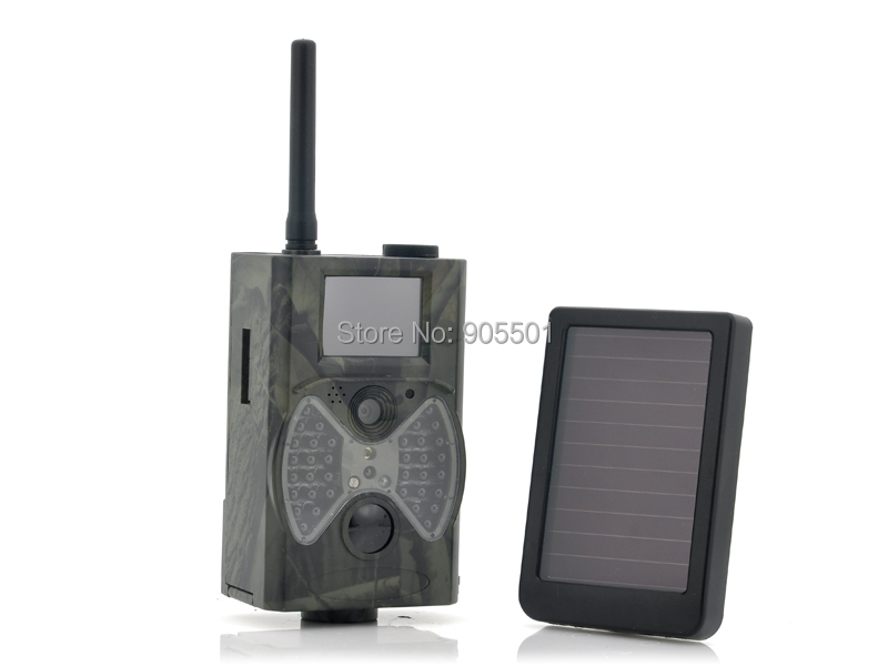 12MP 940NM Black IR night vision MMS GPRS trail game camera hunting camera + Solar Panel Battery Free Shipping hc300m scouting hunting camera gprs mms digital 940nm black infrared trail camera solar panel battery