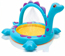 229*165*117cm spray swimming pool 2016 new inflatable plastic dinosaur shaped pool high quality for aged 3+ children