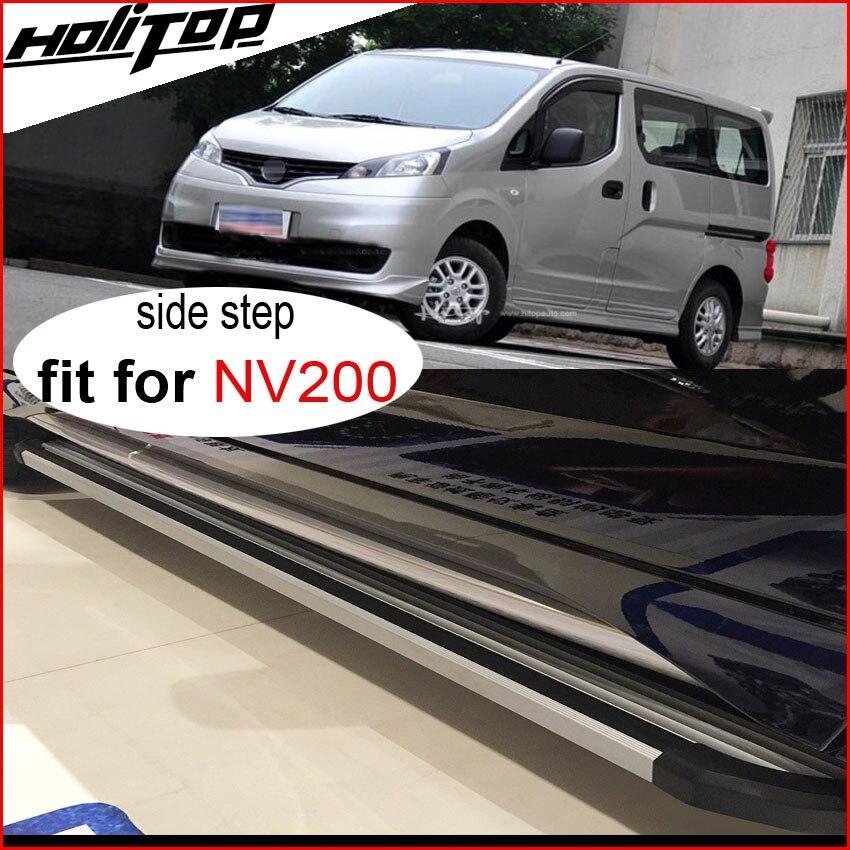 Passaggi laterali nerf bar esecuzione di bordo per la partita per Nissan NV200, 85% addensare in lega di alluminio, ISO9001 di fabbrica. trasporto libero In Asia.
