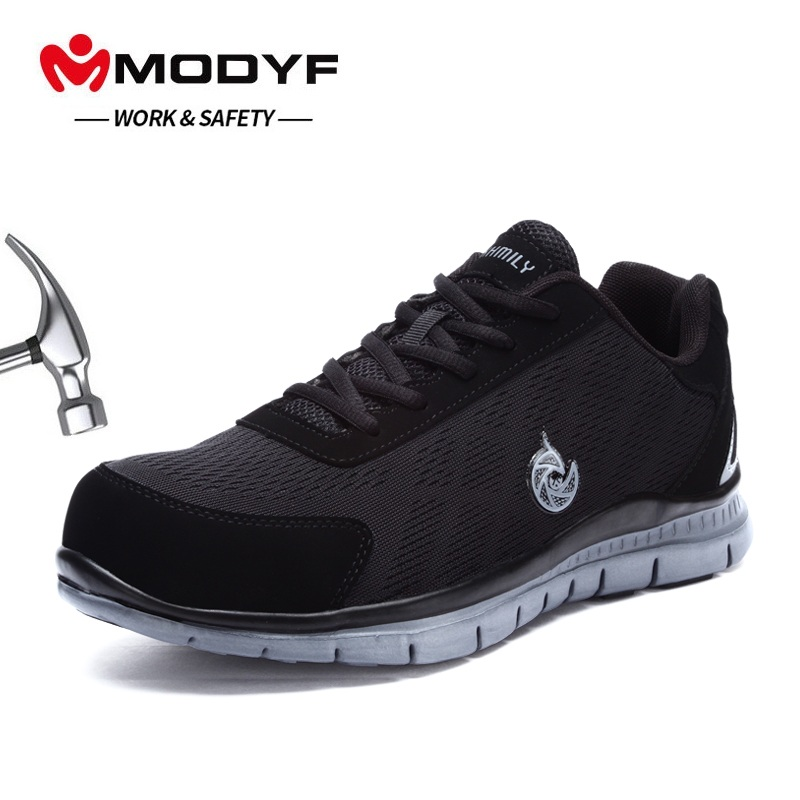MODYF High Quality Steel Toe Safety Shoes Mens Work Safety Shoes Breathable Mesh Work Shoes Non-slip Rubber Sole