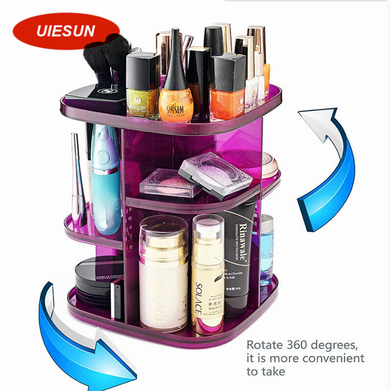 New Arrival Hot 360 Degree Rotating Cosmetic Organizer Make up Brush Holder Makeup Organizer Container Large
