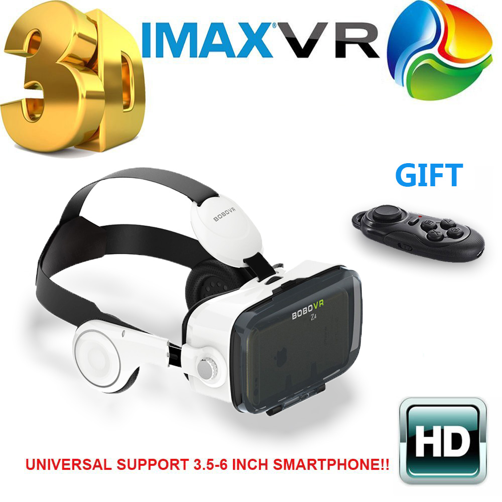 2016 Newest Original <font><b>BOBOVR</b></font> Z4 3D <font><b>Glasses</b></font> VR <font><b>Virtual</b></font> <font><b>Reality</b></font> Headset 3D <font><b>Video</b></font> Game Private Theater with Headphone+Controller
