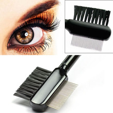Professional Eyelashes Extension Eyebrow Comb Brush High Quality Metal Eye Lashes Beauty Cosmetic Tools
