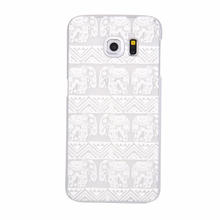 Flower Transparent Back Cover For Samsung Galaxy S6/S6 Edge Crystal Hard PC Clear Cases For G9200/G9250 Coque Fundas For Grils