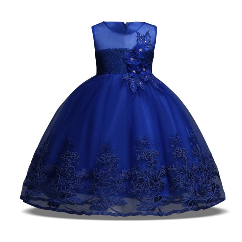 2018 Summer Children Clothing Girls Dress Elegant Wedding Dress Kids Dresses For Girls Clothes Party Princess Dress 10 12 Years