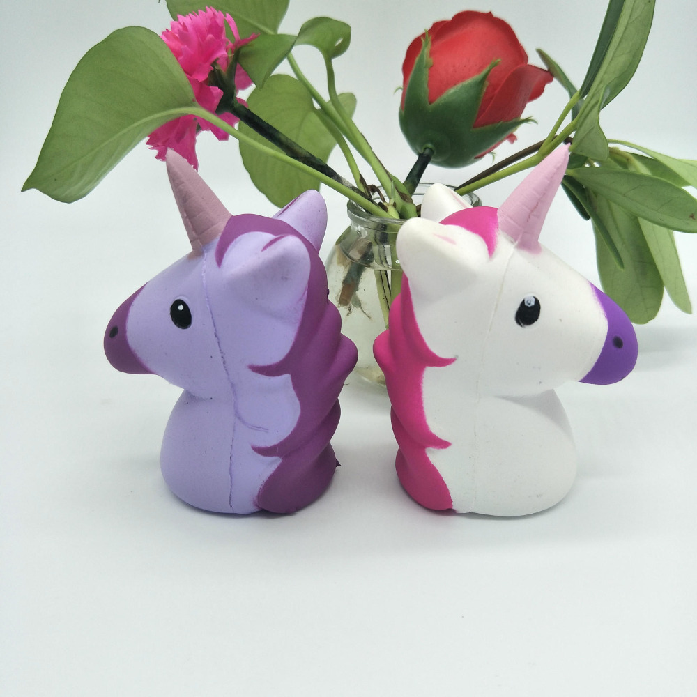 Jumbo PU Kawaii Horse Pegasus Squishy Slow Rising Soft Squeeze Fun Presure Stress Release Kids Toys Charm Phone Straps Xmas Gift