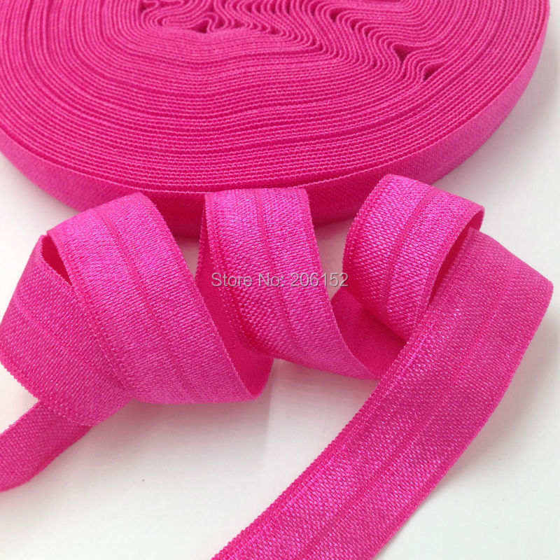 Wholesale Rose Red Fold Over Elastic 5/8