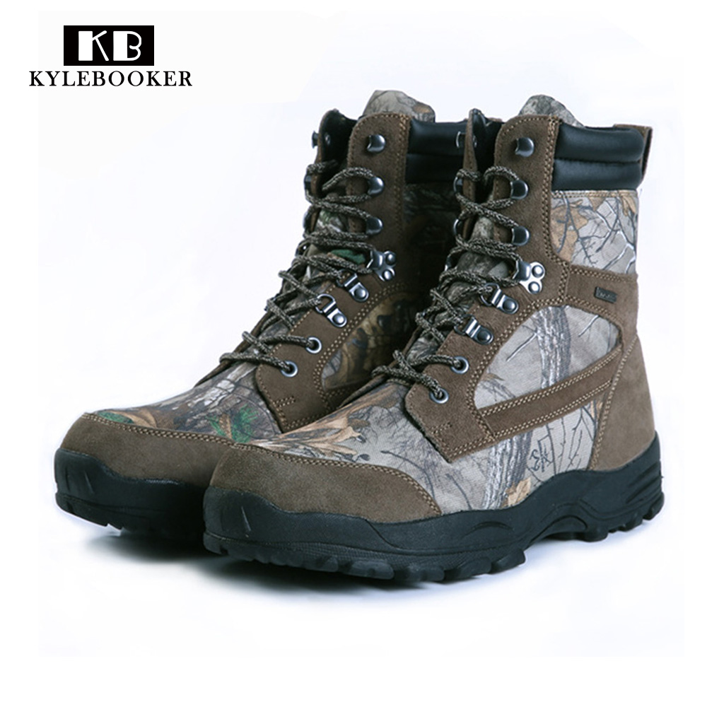 Hunting Boots Mountain Boots Outdoor Trekking Hiking Shoes Leaf Camo Waterproof Army Camouflage Shoes or fabric camouflage leaf headgear
