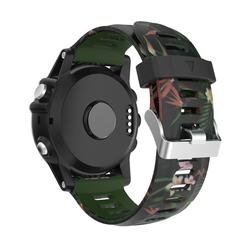 Универсальный ремень печать силиконовый ремешок для Garmin Fenix 3 Fenix 3 HR Fenix 5x