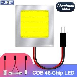 Xukey светодиодный COB Панель освещения, Внутренняя купольная панель с номером двери, кабина, карта лампы T10 BA9S фестон-адаптер HID белый 12V 2W алюми...