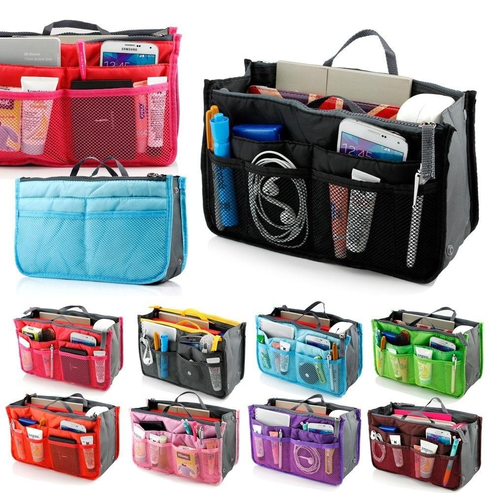 Portable Lady Women Insert Handbag Organiser Purse Large Liner Organizer Makeup Wash Bag Traveling Accessory