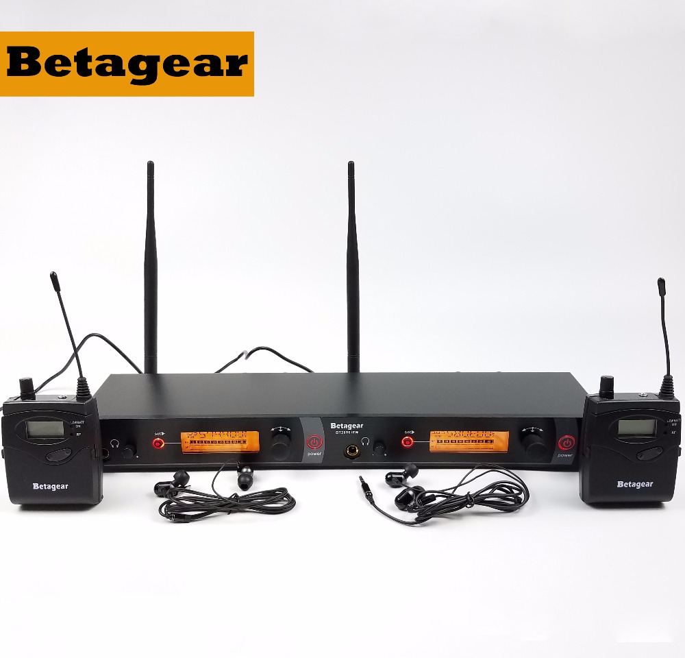 Betagear SR2050IEM twin <font><b>monitor</b></font> <font><b>in</b></font> ohr <font><b>monitor</b></font> system BT2050 wireless sound sender und empfänger bühne <font><b>monitor</b></font> audio bühne image