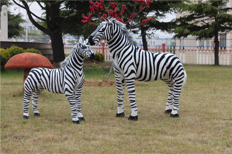 smaller creative simulaiton zebra toy plush zebra model doll gift doll about 80x70cm
