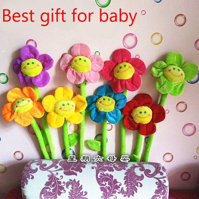 Подсолнечное 8 шт./лот детские подарок на день рождения плюшевые игрушки шторы детские погремушки Домашнего Интерьера трещотки младенца для детей