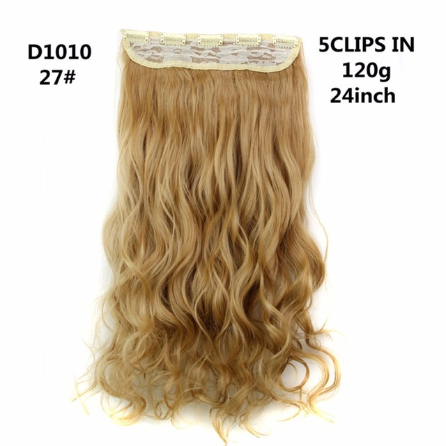 Furice 24inch Synthetic Black Hair Good Clip In Extension Color