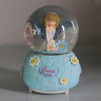 Big automatic snowblasting Angel color lantern crystal ball music box octave Valentine's Day gifts girls and children LM01081557