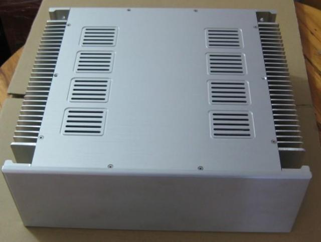 Nobsound High-End Alumínio Chassis Caso Amplificador De Potência de Áudio Gabinete DIY Prata/Preto