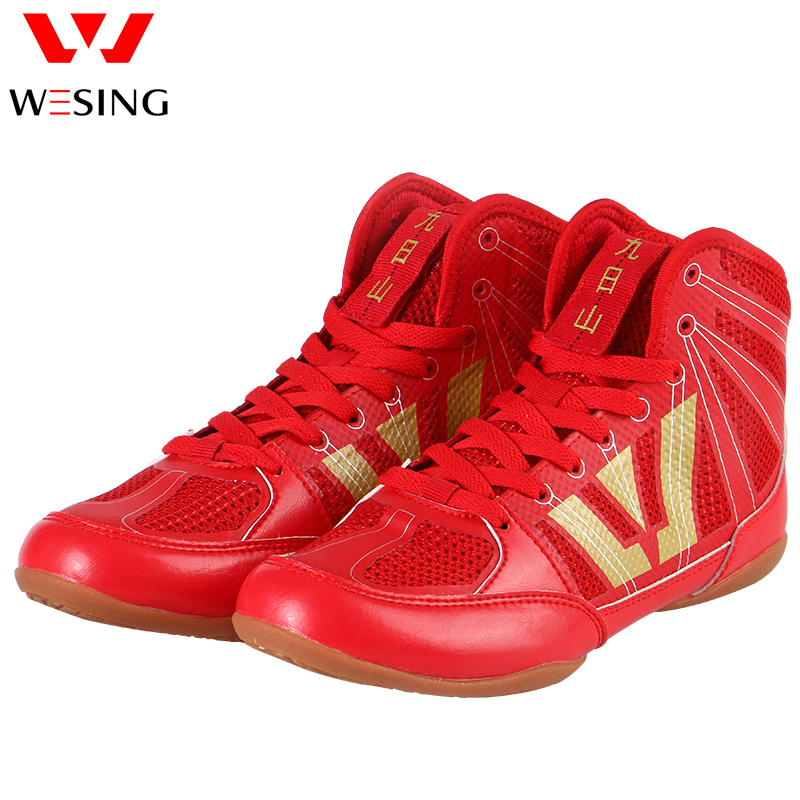 Wesing Professional Wrestling Shoes Taekwondo Shoes Breathable Karate Shoes Woman Men Adults Children Soft Oxford Soles