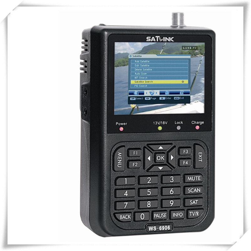 SATLINK WS-6906 3.5 LCD DVB-S FTA Data Digital Satellite Signal Finder Meter WS 6906 Satlink WS6906 original satlink ws 6965 digital satellite meter fully dvb t