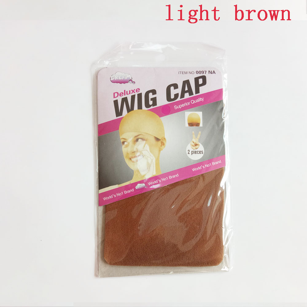 Image 5 - 60PCS(30bags) Wig Caps For Making Wigs Stocking Wig Cap Snood Nylon Stretch Mesh In 7 Colors Weaving CapHairnets   -