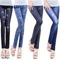 14 Colores S-XL Mujeres Moda Pantalones Denim Jeans Delgado Leggings agujero Plisado Nueve Plus Estiramiento Del Tamaño Nuevo de La Manera Delgada del Todo partido