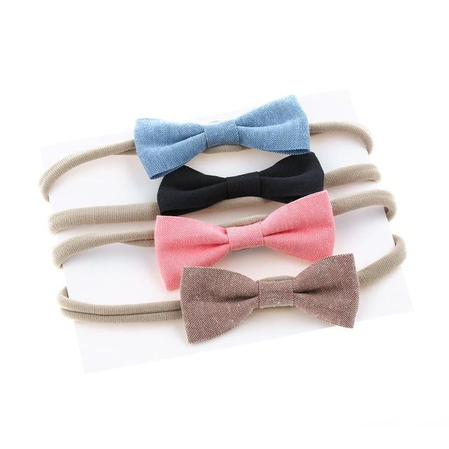e45a640f3e58 4 Pcs Set Fashion Cute Baby Girls Headband Beautiful Bowknot Hairbands Bows  Hair Band Hair