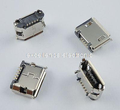 50Pcs Micro USB Type B Female 5 Pin DIP Socket Connector DIY wholesale 20 pcs micro usb type b female 5 pin smt placement smd dip socket connector plug adapter