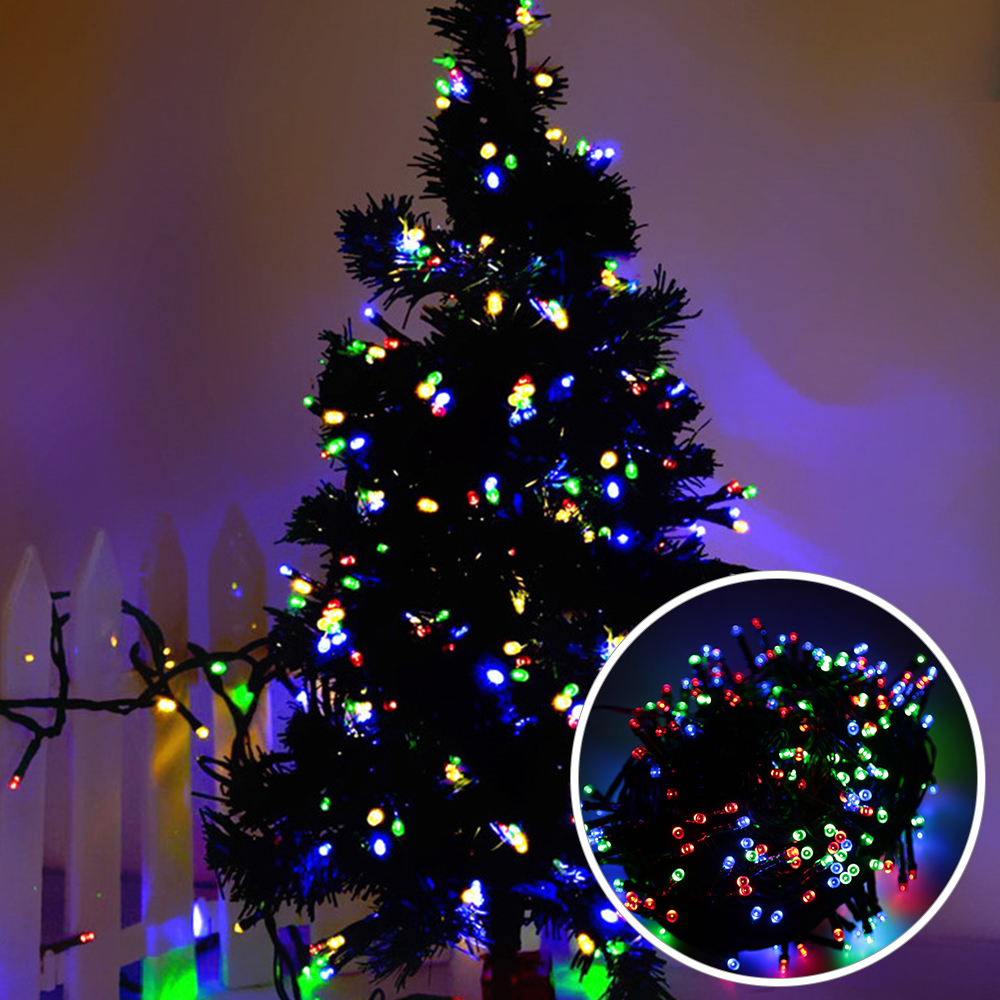 Rgb 10m Multi Function Christmas Lighting Strings 100 Lights 220v 8 Light Also Led String Wiring Diagram Modes Flasher Fairy For Outdoor Festoon Garland In From