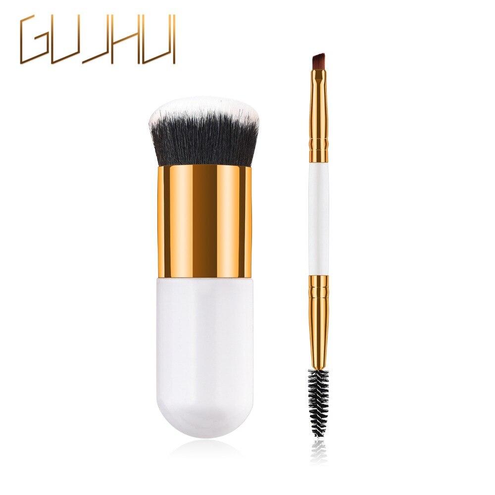 1/2PCS Chubby Pier Foundation Brushes for Eyelashes Loose Powder Base Portable BB Cream Makeup Brush Flat Kit Pincel Maquiagem