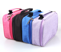 72 Slots Detachable Oxford Canvas School Pencils Case Large Capacity Watercolor Colored Pencil Bag For Student