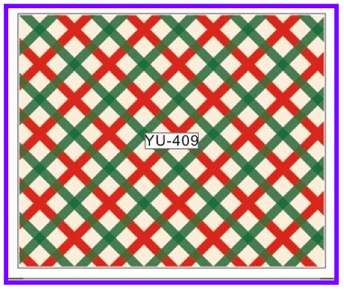 1X  Nail Sticker Full Cover Abstract Fence Grill Patterns Water Transfers Stickers Nail Decals Stickers Water  YU409