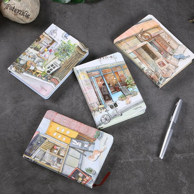 Sweet Shop Hard Cover Cute Beautiful Daily Journal Diary Study Notebook Pocket Memo