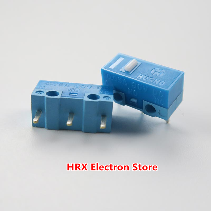 Image 2 - 100PCS / LOT HUANO Mouse Micro Switch Button Silver Contact (Blue Shell / Blue / Pink / Yellow / Green / White) 6 Colors-in Switches from Lights & Lighting