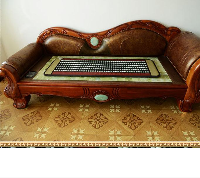 High Quality Jade tourmaline mattress bamboo carbon fiber cushion jade mattress jade cushion electric heated 50X150CM for Sale electric heated jade ocher tourmaline magnetic pillow high quality made in china
