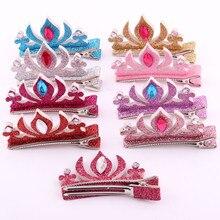 Hot Sale Girls Headdress Princess Hair Accessories Snowman Tiaras Hair Pin Colors Crown Style Hair Clips For Girls Blue Barrette
