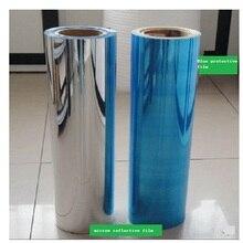 50cm*2M Width  PET Silver Mirror Reflective Stickers Waterproof UV Light Opaque Film