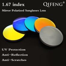 1.67 Index Asférica Polarizada Espelho Óculos de Sol Óculos de Proteção UV  Lente Lente Prescrição Miopia Presbiopia CR-39 2 pcs . 916caa4a00