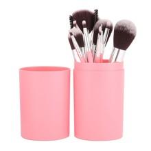 12pcs Pro Makeup Brushes Set Foundation Powder Eyeliner Lip Brush Tools with storage box недорого