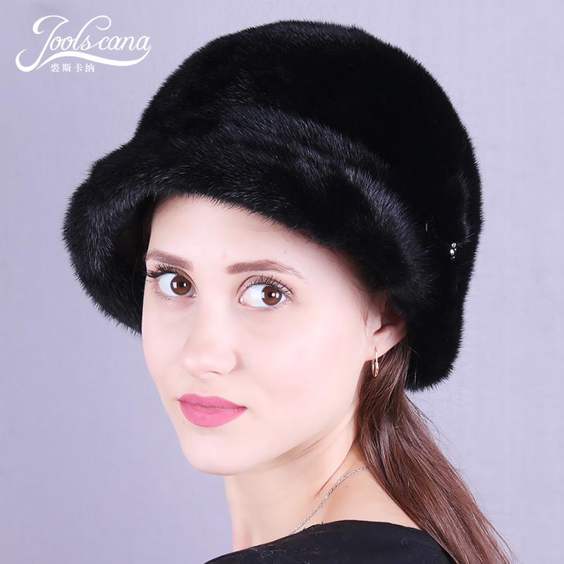 JOOLSCANA Mink fur hats russian fur hats for women winter hat women cap natural whole mink cap elegant style russian hats for extremely cold fur hat guarantee 100
