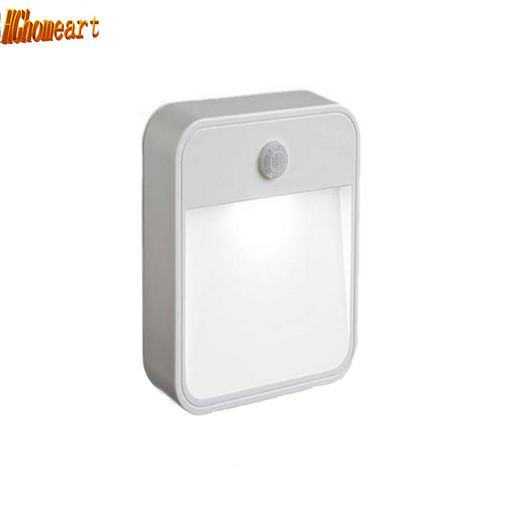 light sensor Wall LED Night Light Induction Lamp night led light Motion Sensor lamp battery powered led 12v night light led pir body automatic motion sensor wall light sensor night light usb rechargeable induction lamp for closet bedrooms