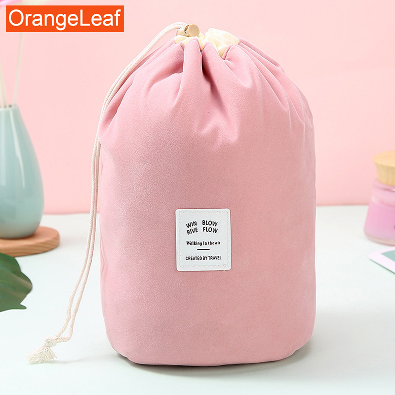 2019 New Round Women Makeup Bag Travel Make Up Organizer Cosmetic Bag Female Storage Toiletry Kit Case