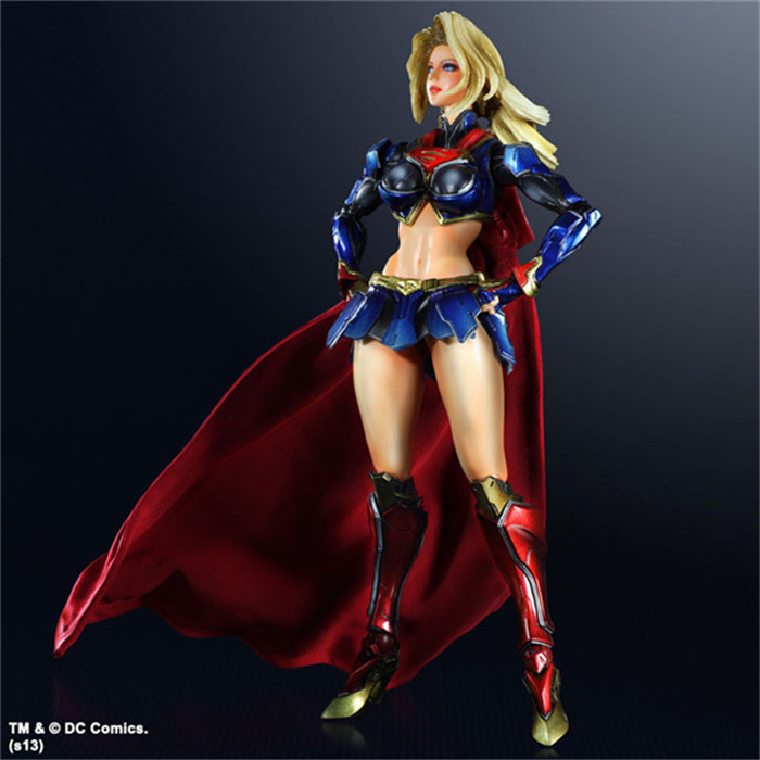 SQUARE ENIX Play Arts KAI DC COMICS NO.7 SUPERGIRL PVC Action Figure Collectible Models Toys 28cm KT2902 dc comics designer series darwyn cooke batman supergirl harley quinn pvc action figure collection model toys 7 18cm