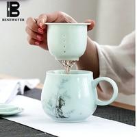 Jingdezhen Tea Mug with Filter Ceramic Cups and Mugs Porcealin Tea Cup