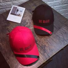 Women Men Couple Embroidery Baseball Cap Unisex Snapback Hip Hop Flat Hat Male female stick letters Be Have baseball cap(China)