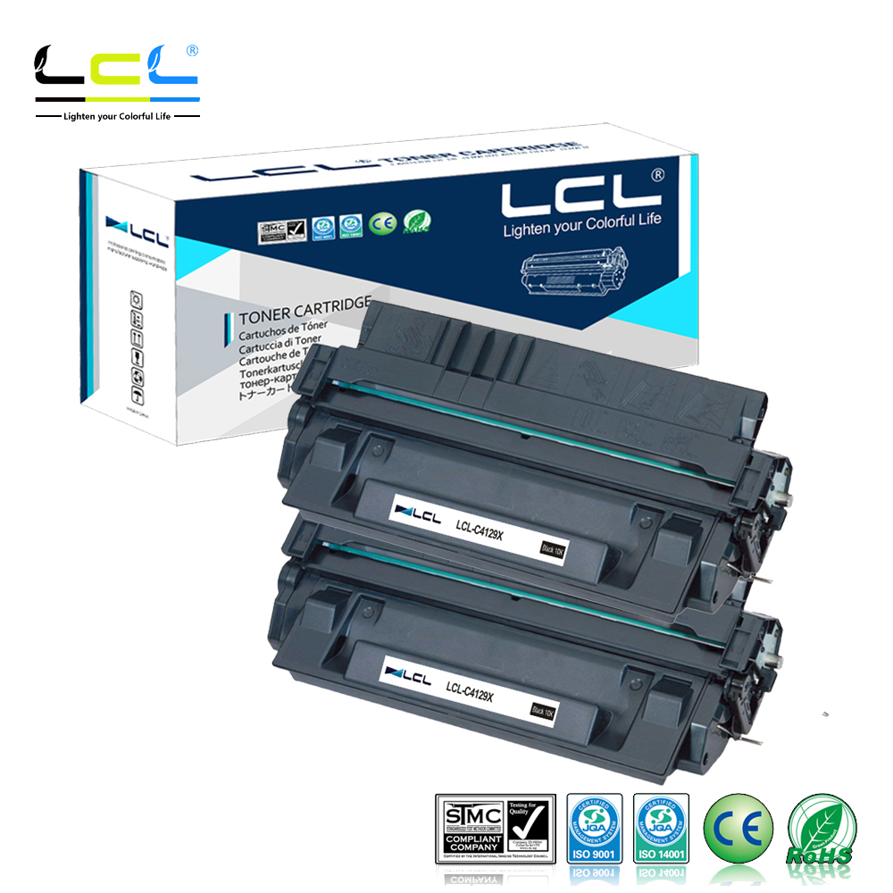 LCL 29X C4129X C4129 4129X (2-Pack Black) Toner Cartridge Compatible for HP LaserJet 5000/5000g/5000GN/5000LE/5100/5100DTN any 1 lcl 651a ce340a ce341a ce342a ce343a 1 pack black cyan magenta yellow toner cartridge compatible for hp pro 700 m775