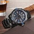 Eyki grande esporte legal estereoscópico mostrador esqueleto de aço inoxidável ponteiro luminoso relógio de marca de luxo homem relógios de pulso para homens